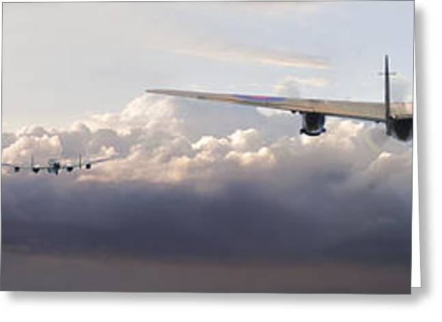 Lancaster - Main Force Outbound Greeting Card by Pat Speirs