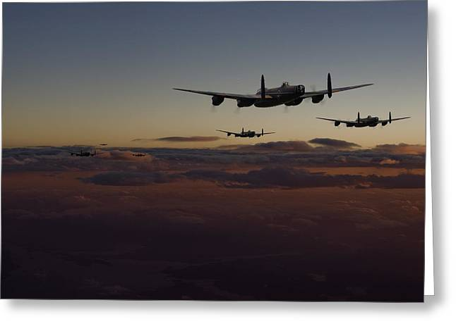 Lancaster Bomber Greeting Cards - Lancaster -Mainstream Greeting Card by Pat Speirs