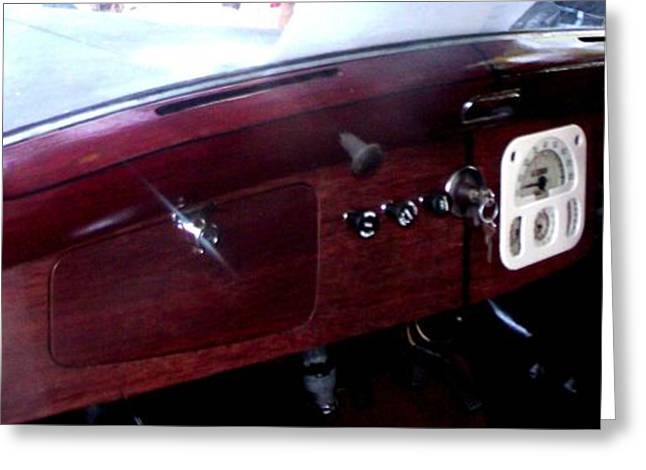 Steering Greeting Cards - Lanchester Dash Greeting Card by Gail Matthews