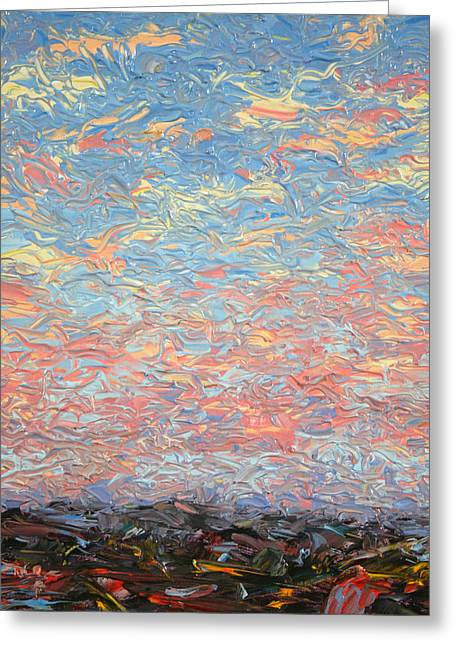 Big Sky Greeting Cards - Land and Sky 3 Greeting Card by James W Johnson