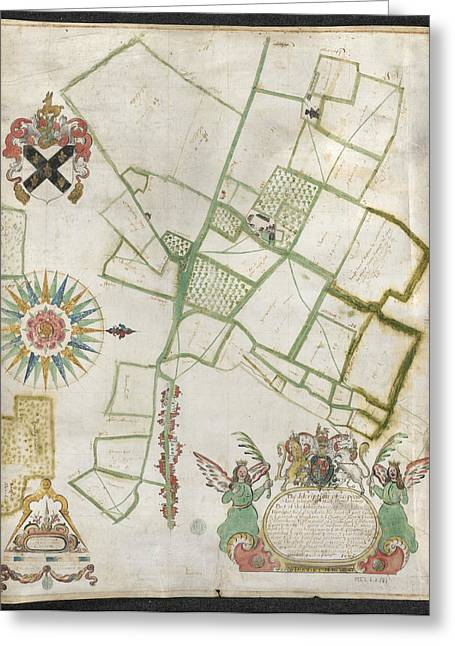 Land Belonging To Nash Howse Greeting Card by British Library
