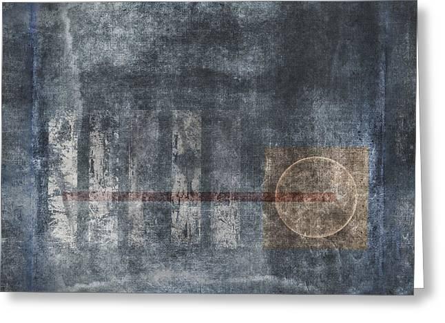Rectangles Digital Greeting Cards - Land Bridge Greeting Card by Carol Leigh
