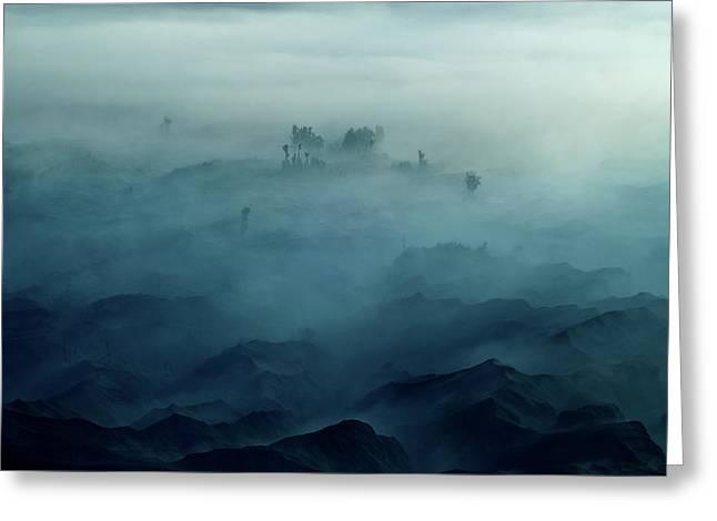 Land Of Fog Greeting Card by Rudi Gunawan