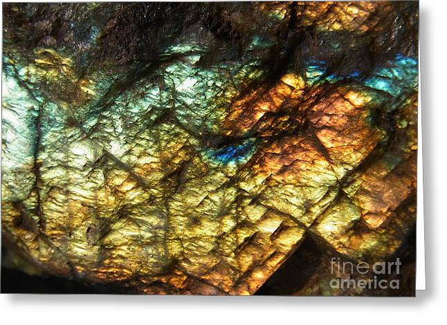 Blue Labradorite Greeting Cards - Land Of Light Greeting Card by Agnieszka Ledwon