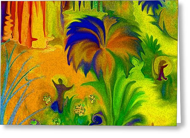 Digital Art Greeting Cards - Land Of Little Peeps Greeting Card by Sherri  Of Palm Springs