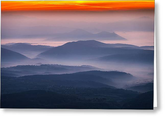 Bulgaria Greeting Cards - Land of Mists Greeting Card by Evgeni Dinev
