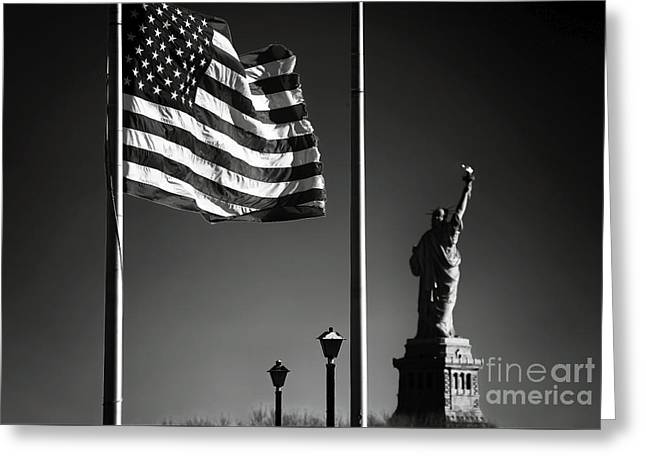Land Of The Free Greeting Cards - Land of the Free Greeting Card by John Rizzuto