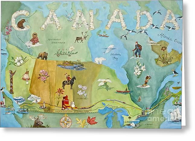 Land Of The Silver Birch Greeting Card by Virginia Ann Hemingson