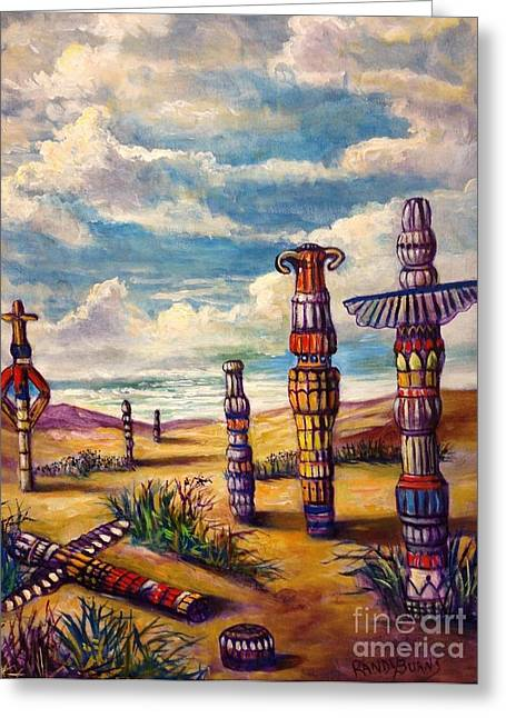 Randy Burns Greeting Cards - Land of Totems Greeting Card by Randy Burns
