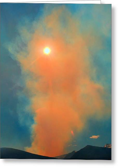 Colorado Wildfires Greeting Cards - Land On Fire Greeting Card by Dan Sproul