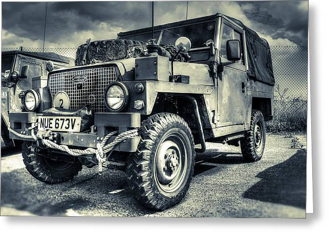 Defender Greeting Cards - Land Rover - Defender Greeting Card by Ian Hufton