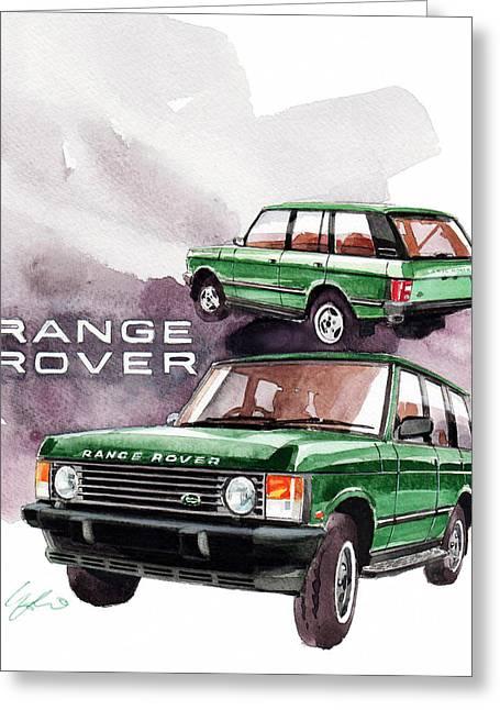 Rover Greeting Cards - Land Rover Range Rover Greeting Card by Yoshiharu Miyakawa