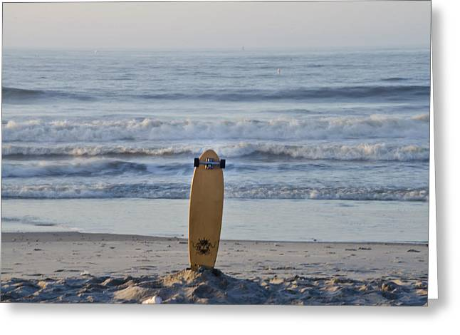 Skateboard Digital Greeting Cards - Land Surf Board Greeting Card by Bill Cannon