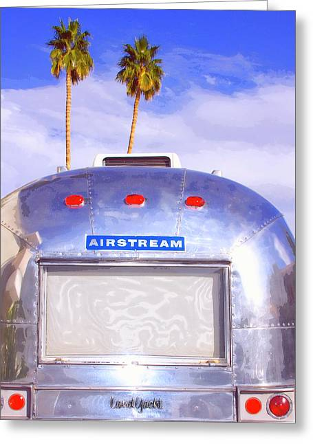 Featured Art Greeting Cards - LAND YACHT Palm Springs Greeting Card by William Dey