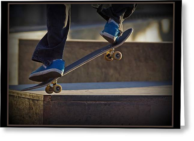 Skateboarding Greeting Cards - Landing it Greeting Card by Ernie Echols