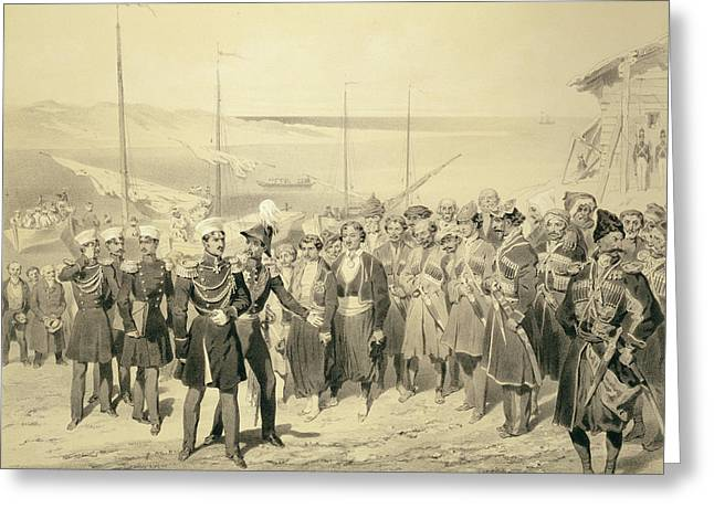 Landing Of A Military Leader Greeting Card by Grigori Grigorevich Gagarin