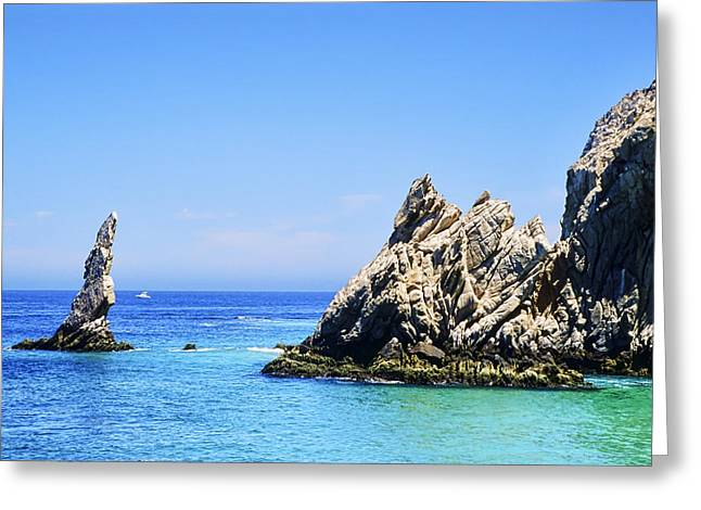 Cabo San Lucas Greeting Cards - Lands End at Cabo Greeting Card by Kelley King