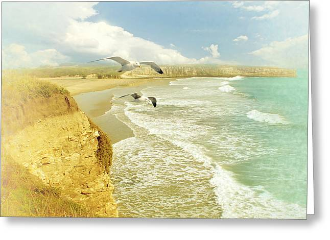 Santa Cruz Digital Greeting Cards - Lands End Greeting Card by Catherine Noel