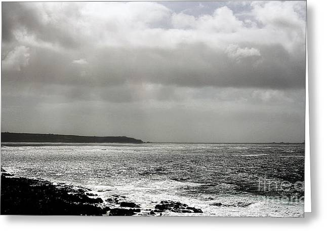 Leaden Sky Greeting Cards - Lands End Greeting Card by Linsey Williams