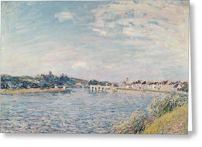 Paysages Greeting Cards - Landscape, 1888 Oil On Canvas Greeting Card by Alfred Sisley