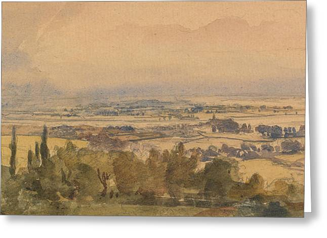 Landscape Drawings Greeting Cards - Landscape, 1909 Greeting Card by Philip Wilson Steer