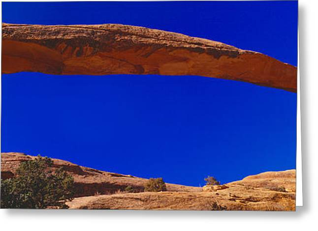 S Landscape Photography Greeting Cards - Landscape Arch, Arches National Park Greeting Card by Panoramic Images