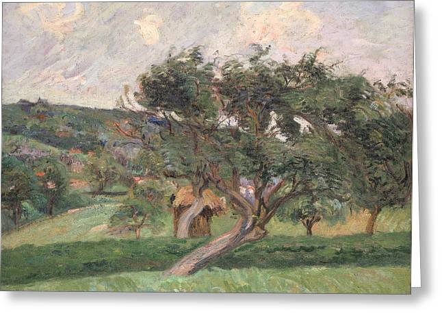 French Country Greeting Cards - Landscape at Damiette Greeting Card by Jean Baptiste Armand Guillaumin