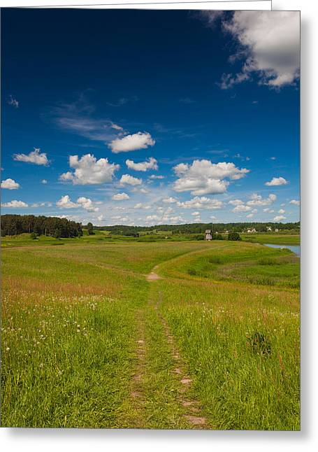 World Locations Greeting Cards - Landscape At Mikhailovskoye, Alexander Greeting Card by Panoramic Images