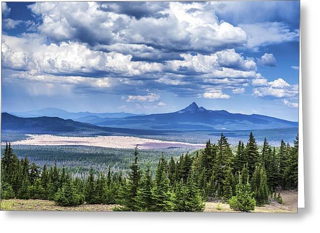 Crater Lake View Greeting Cards - Landscape Beauty Greeting Card by Joseph S Giacalone