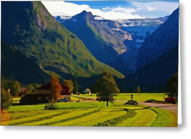 Sunset Prints Greeting Cards - Landscape canvas prints Greeting Card by Victor Gladkiy