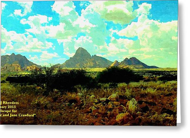 Commercial Photography Paintings Greeting Cards - Landscape For Peter and Jane Crawford H a Greeting Card by Gert J Rheeders