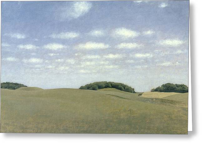 Moorlands Greeting Cards - Landscape from Lejre Greeting Card by Vilhelm Hammershoi