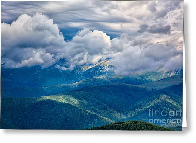 Carpathian Mountains Greeting Cards - Landscape from Transalpina Greeting Card by Gabriela Insuratelu