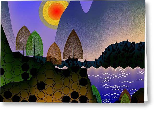 Landscape Greeting Card by GuoJun Pan