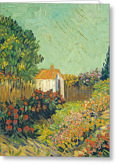 Famous Artist Greeting Cards - Landscape Greeting Card by Imitator of Vincent van Gogh