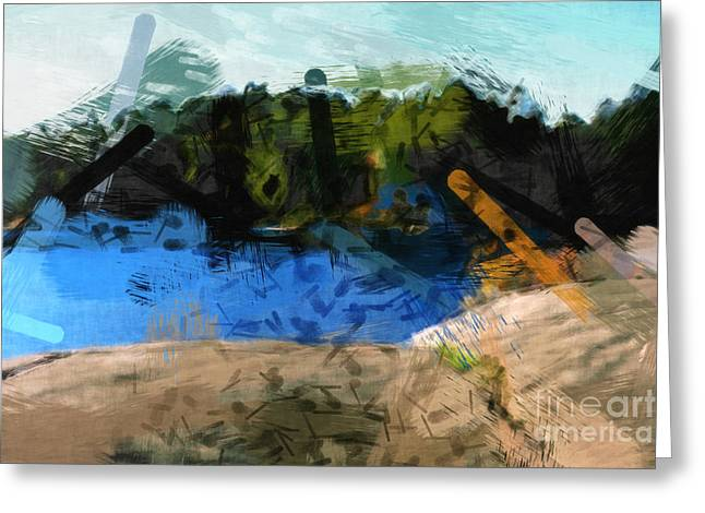 Abstract Seascape Digital Greeting Cards - Landscape Impact Greeting Card by Lutz Baar