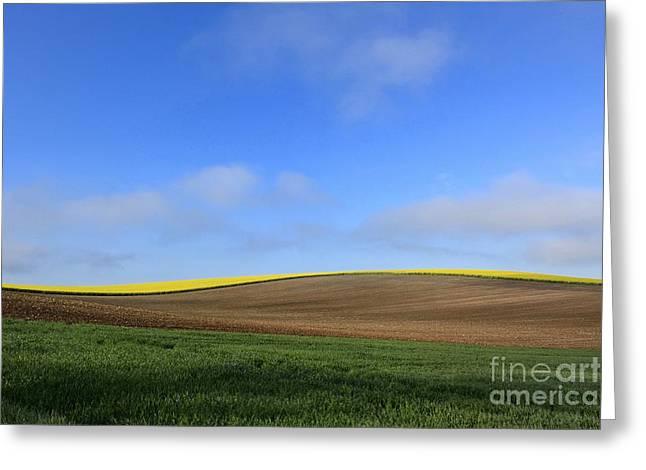 Cropland Greeting Cards - Landscape in France Greeting Card by Bernard Jaubert