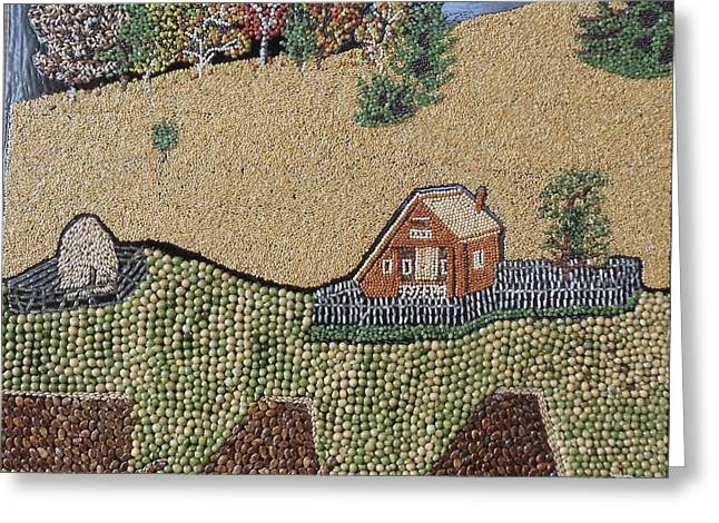 Landscapes Reliefs Greeting Cards - Landscape in Romania Greeting Card by Kovats Daniela