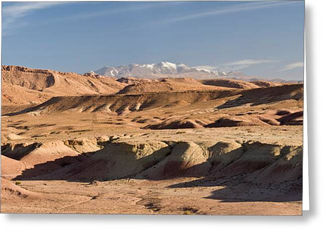Kasbah Greeting Cards - Landscape, Kasbah, Ait Benhaddou Greeting Card by Panoramic Images