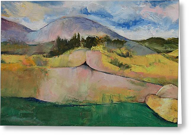 Surrealist Greeting Cards - Landscape Greeting Card by Michael Creese