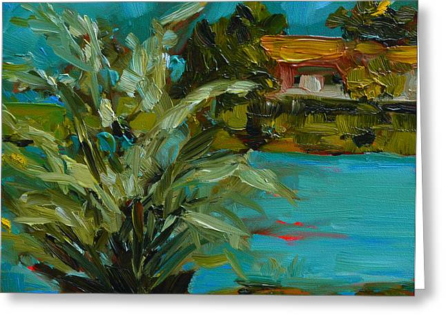 Impressionist Style Greeting Cards - Landscape No. 2 Greeting Card by Patricia Awapara