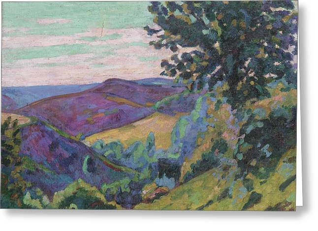 Crozant Greeting Cards - Landscape of the Crozant Greeting Card by Jean-Baptiste Armand Guillaumin