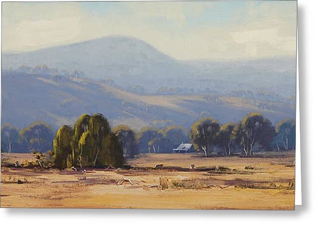 Shed Greeting Cards - Landscape Paintings Greeting Card by Graham Gercken