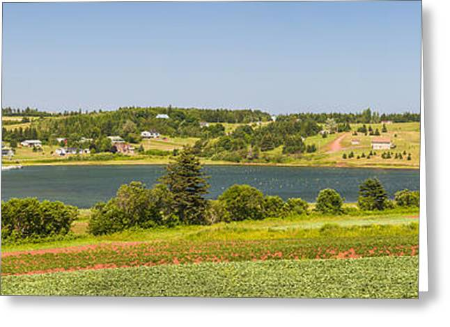Ocean Panorama Greeting Cards - Landscape panorama of Prince Edward Island  Greeting Card by Elena Elisseeva