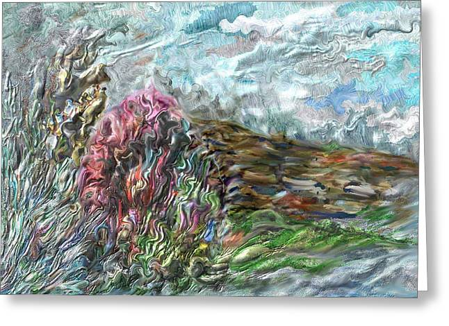 Terra Firma Greeting Cards - Landscape Greeting Card by Richard CHESTER