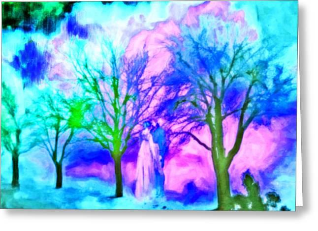 Femina Photo Art Greeting Cards - Landscape Romantic Impressionism Greeting Card by Maggie Vlazny