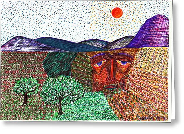 Landscape Greeting Card by Sarah Loft