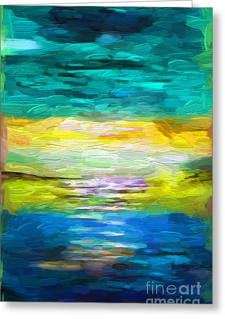 Seascape Abstract  Greeting Card by Heinz G Mielke
