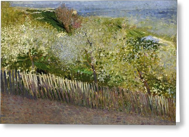 Art Museum Paintings Greeting Cards - Landscape Greeting Card by Serafino Macchiati