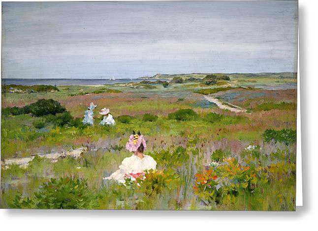 Long Island Paintings Greeting Cards - Landscape Shinnecock Long Island Greeting Card by William Merritt Chase